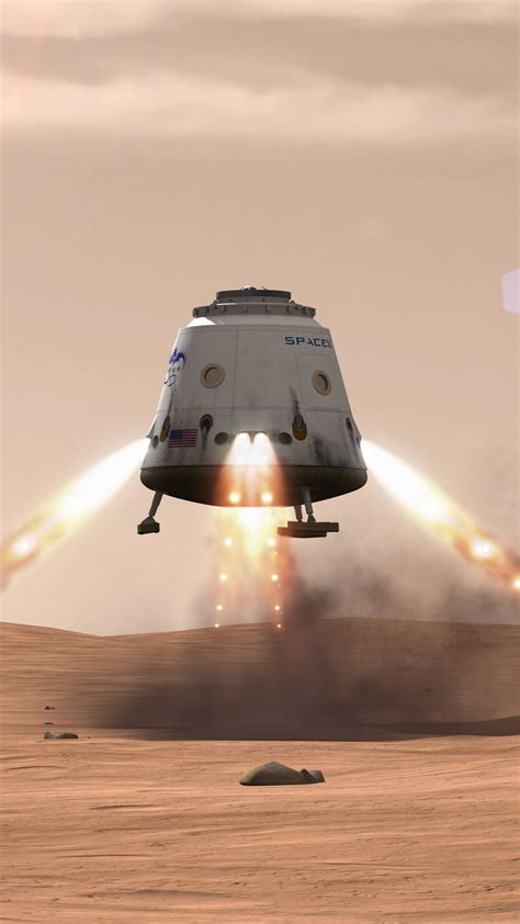 Wallpaper SpaceX, ship, red dragon, mars, Space #12074