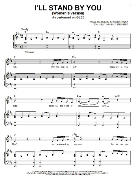 I'll Stand By You | Sheet Music Direct