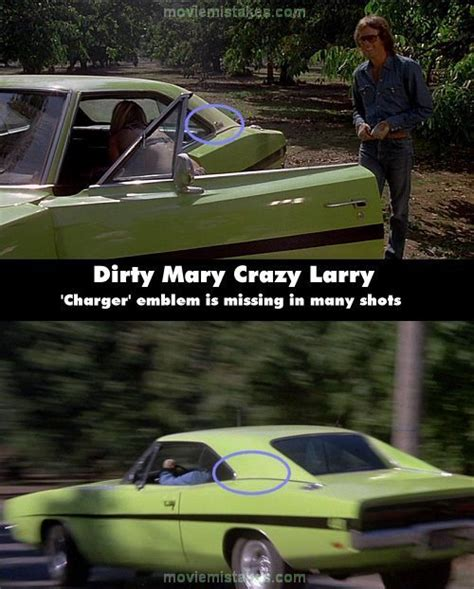 Dirty Mary Crazy Larry (1974) movie mistake picture (ID