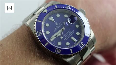"""Rolex Oyster Perpetual Submariner 116619LB """"Smurf"""" Luxury"""