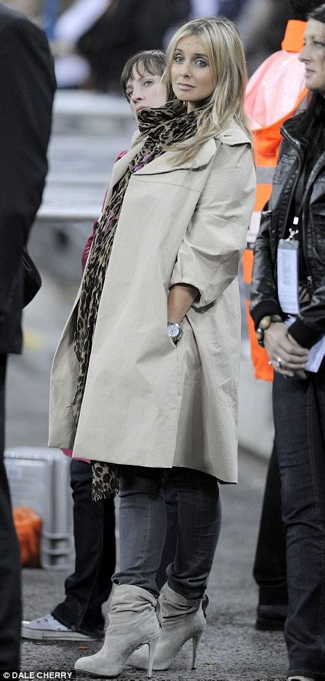 Still game: Heavily pregnant Louise Redknapp shines at