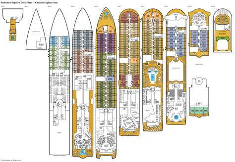 Seabourn Sojourn Deck Plans, Diagrams, Pictures, Video