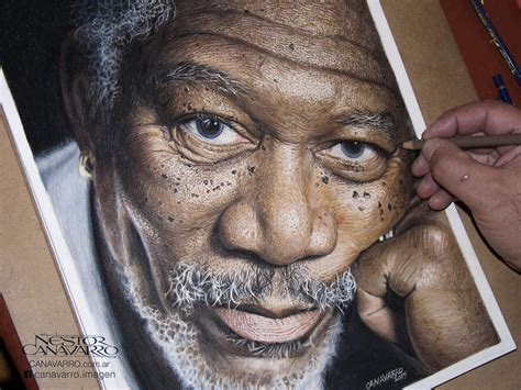 My 50-Hour High-Detail Drawing Of Morgan Freeman In Color