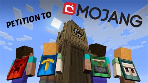 Petition · Mojang: Minecraft Capes · Change