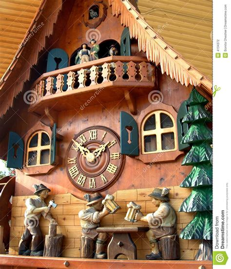 Cuckoo Clock From Black Forest Stock Photography - Image
