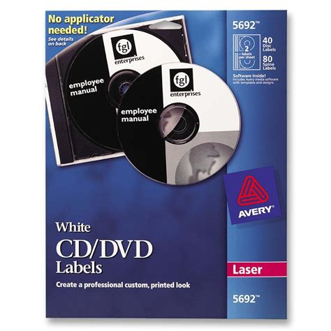 Avery Round CD/DVD Label for Laser Printer - 40 per pack