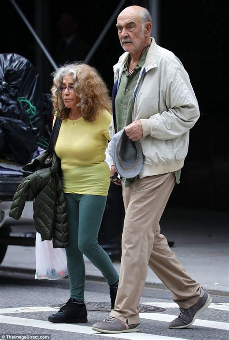 Sean Connery strolls around NYC with his wife Micheline