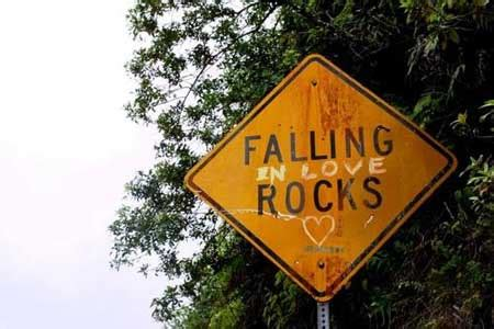 Falling in love rocks | quotes | I Inspiration