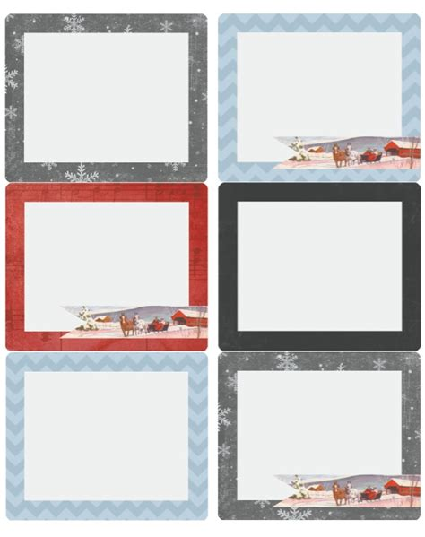Merry Christmas Holiday Labels by Catherine Auger