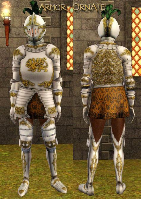 Mod The Sims - Medieval Male Armor CAS for Young Adults