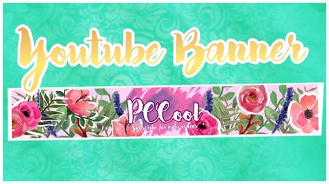 Watercolour Youtube Banner (Channel Art) - YouTube