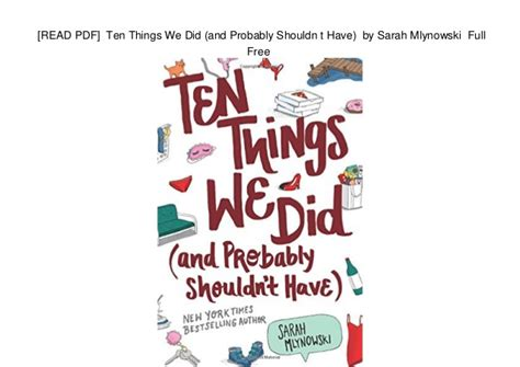 Ten things we did and probably shouldn t have pdf