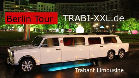 Berlin Tour in Trabant Limousine - YouTube