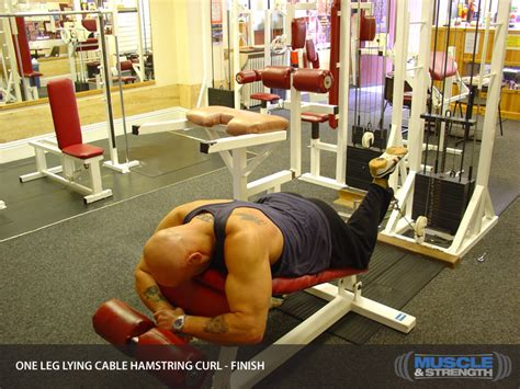 One Leg Lying Cable Hamstring Curl: Video Exercise Guide