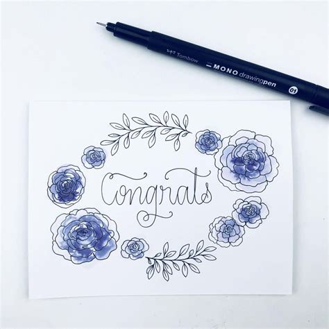 Make Your Own DIY Wedding Congratulations Card - Tombow