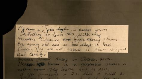 Letter allegedly written by Alcatraz escapee surfaces