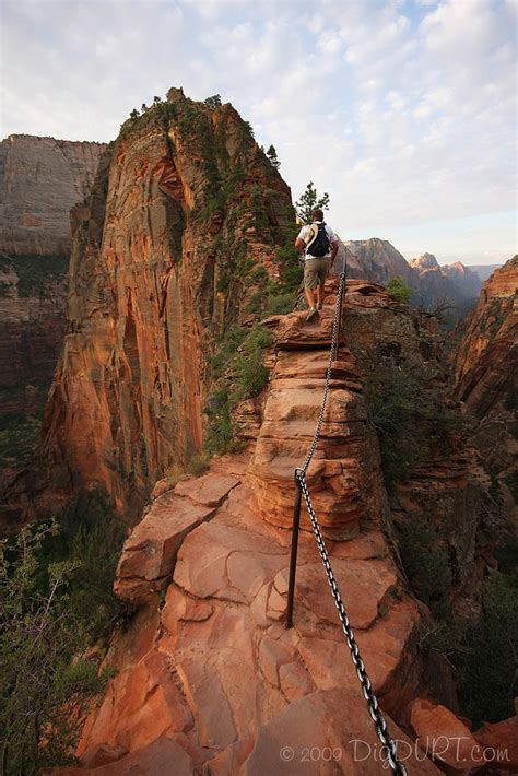 Angels Landing Trail | One of the narrower sections on the