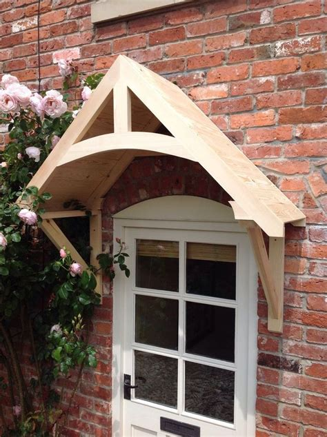 """Details about Timber Front Door Canopy Porch, """"CROSSMERE"""