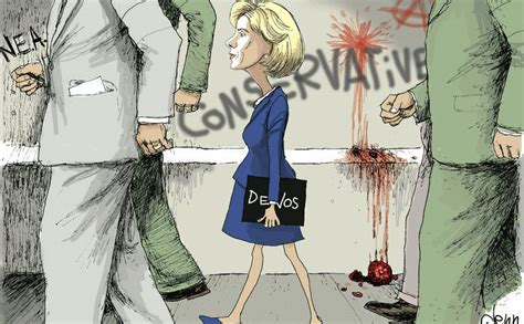 Right-wing Cartoonist Inserts Betsy DeVos into Iconic