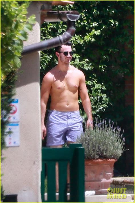Kevin Jonas Shows Off Shirtless Torso In France Ahead of