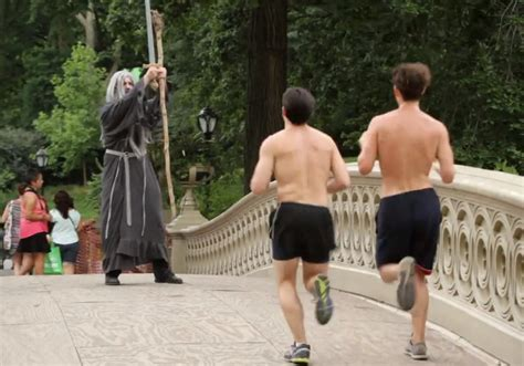 Gandalf Trying His 'You Shall Not Pass' Spell In Real Life