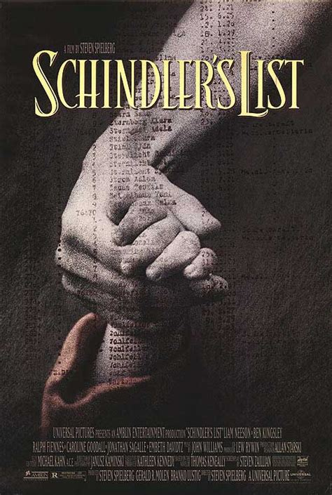 Schindler's List movie posters at movie poster warehouse