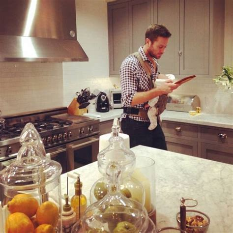 Check Out Armie Hammer's Adorable Multitasking Moment With