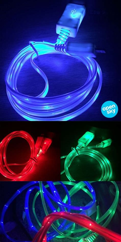 These unique glow-in-the-dark chargers measure 3 feet in