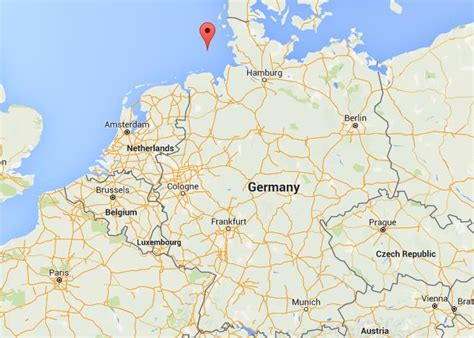 Where is Heligoland on map Germany