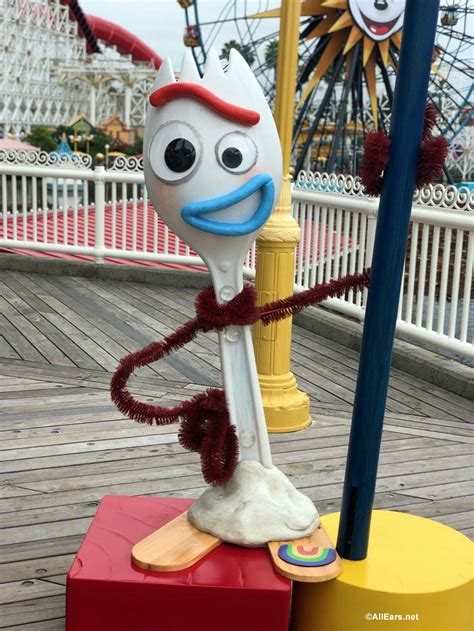 """Forky from """"Toy Story 4"""" Appears in California Adventure"""