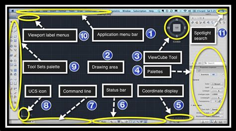 AutoCAD for Mac UI Reference | The main parts of the newly