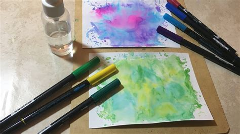 How to make easy watercolor backgrounds - YouTube