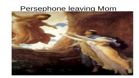 Persephone kidnapped by Hades