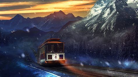 Train Journey Mountains Wallpapers | HD Wallpapers | ID #16176