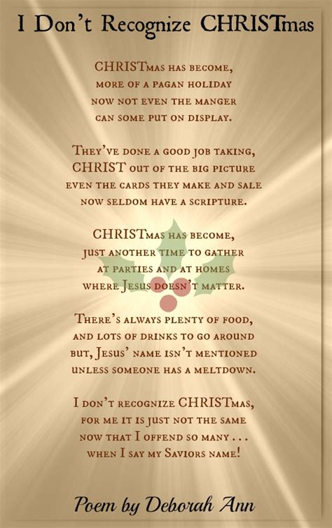 Christmas Poems And Lyrics | Honoring The True Meaning Of