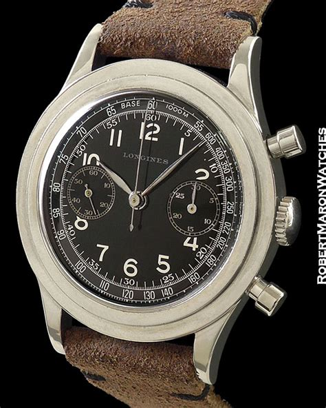 LONGINES 13ZN VINTAGE CHRONOGRAPH STEEL BLACK DIAL :: All