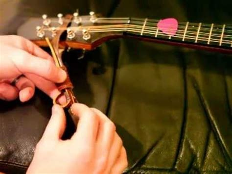 How to attach a strap to the headstock of an A-Style or F