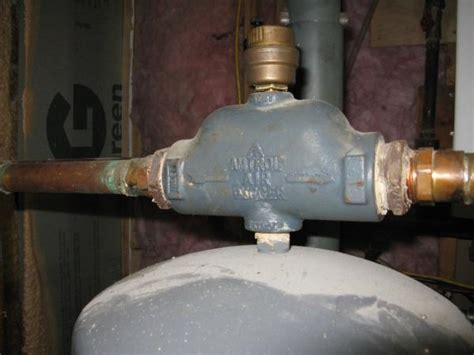 hot water boiler with zero pressure air in pipes - how to