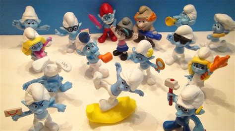 SMURFS 2 MCDONALD'S HAPPY MEAL TOY COLLECTION VIDEO REVIEW