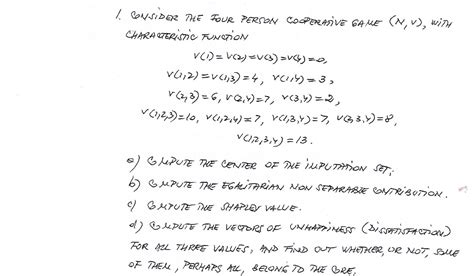 Need Help With Computing The Shapley Value And The