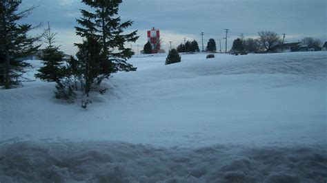 Caribou, Maine, Had a Foot or More of Snow on the Ground