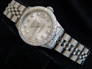 Vintage Rolex Datejust Lady Stainless Steel Watch Silver