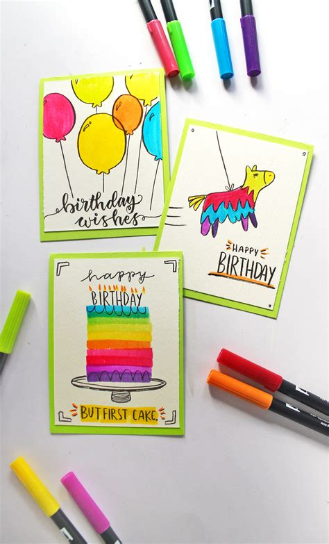 3 Birthday Cards You Can Make in Under 5 Minutes - Tombow
