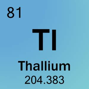 Element 81 - Thallium - Science Notes and Projects