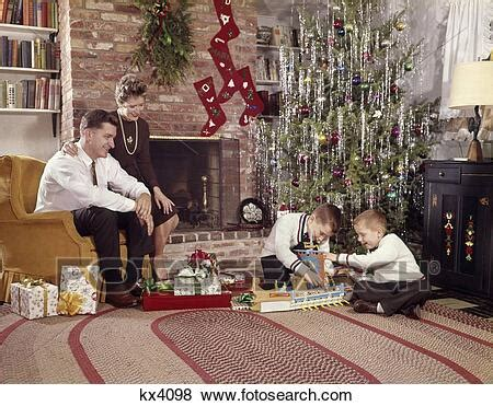 Pictures of 1960S Family In Living Room Christmas Tree